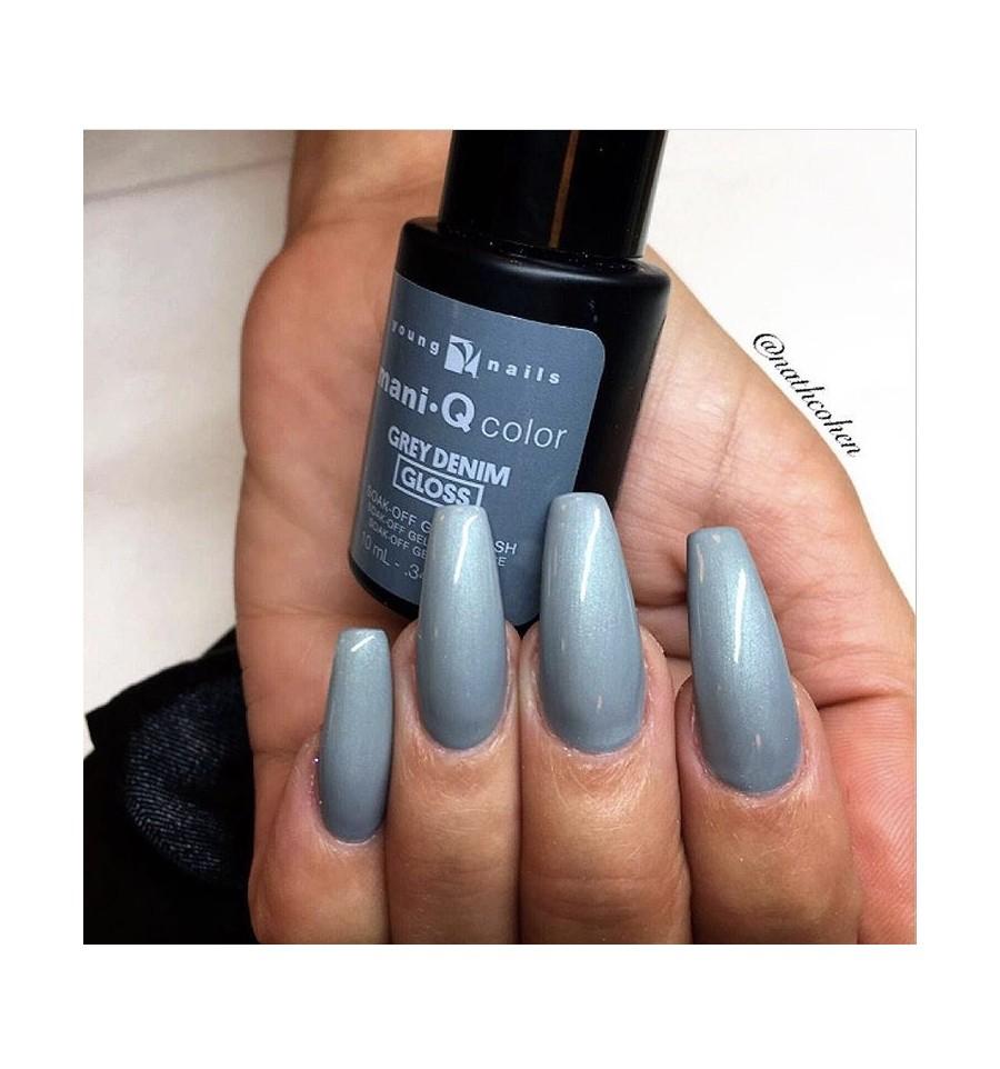 Young Nails - ManiQ 61.Color Grey Denim online kopen? | Prolesbeauty
