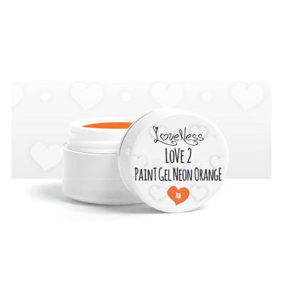 LoveNess Love 2 Paint Gel Neon Orange 7gr