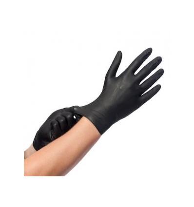 Comforties soft nitril Easyglide & grip handschoenen zwart 100 stuks